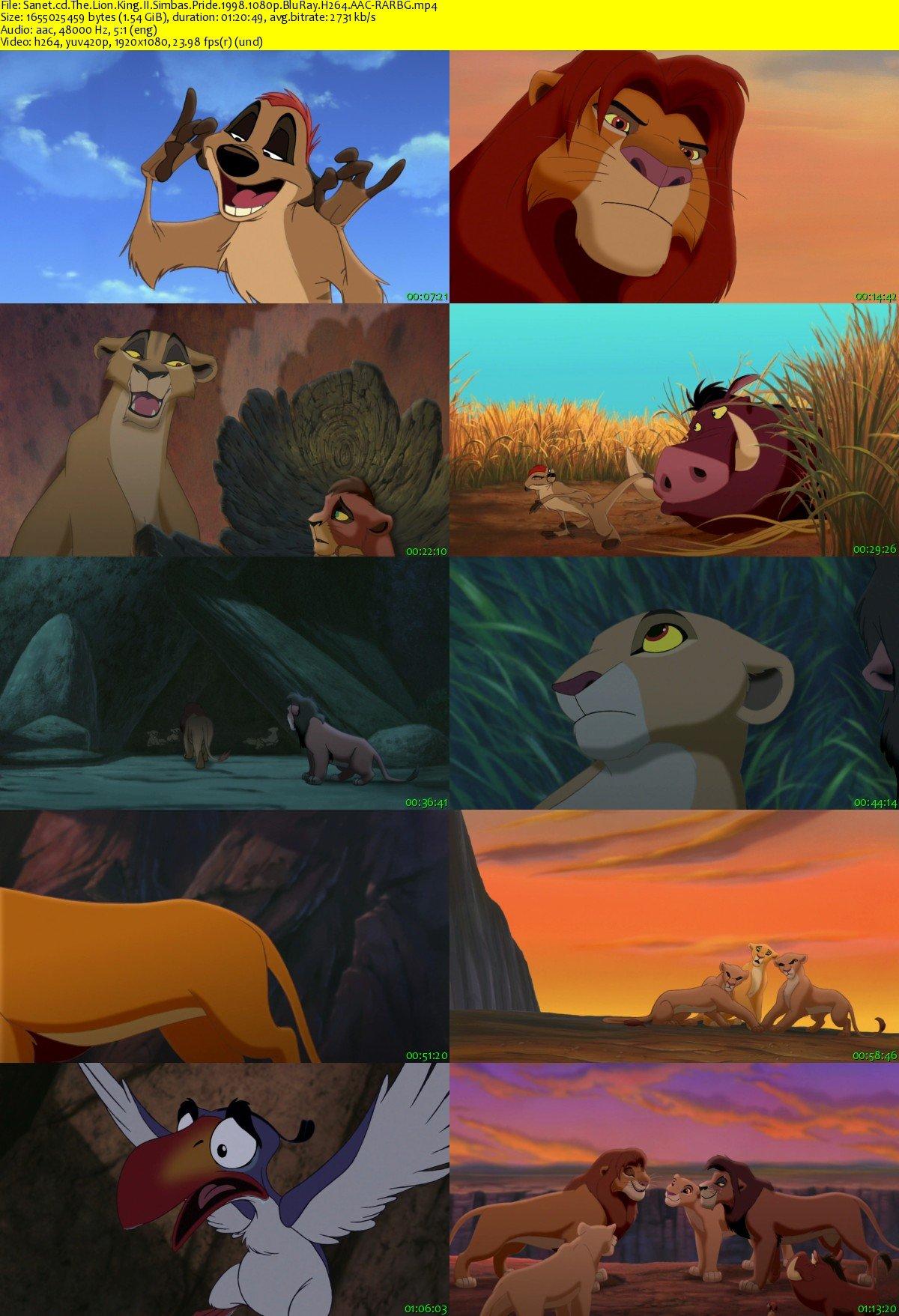 download the lion king ii simbas pride 1998 1080p bluray