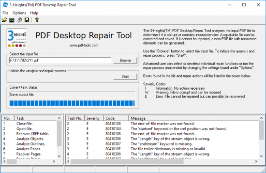 3-Heights PDF Desktop Repair Tool 4.10.26.3