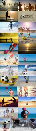 Beach sand soccer ball vacation holiday vacation sports football 25 HQ Jpeg