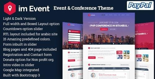 ThemeForest – im Event v3.1.9 – Event & Conference WordPress Theme
