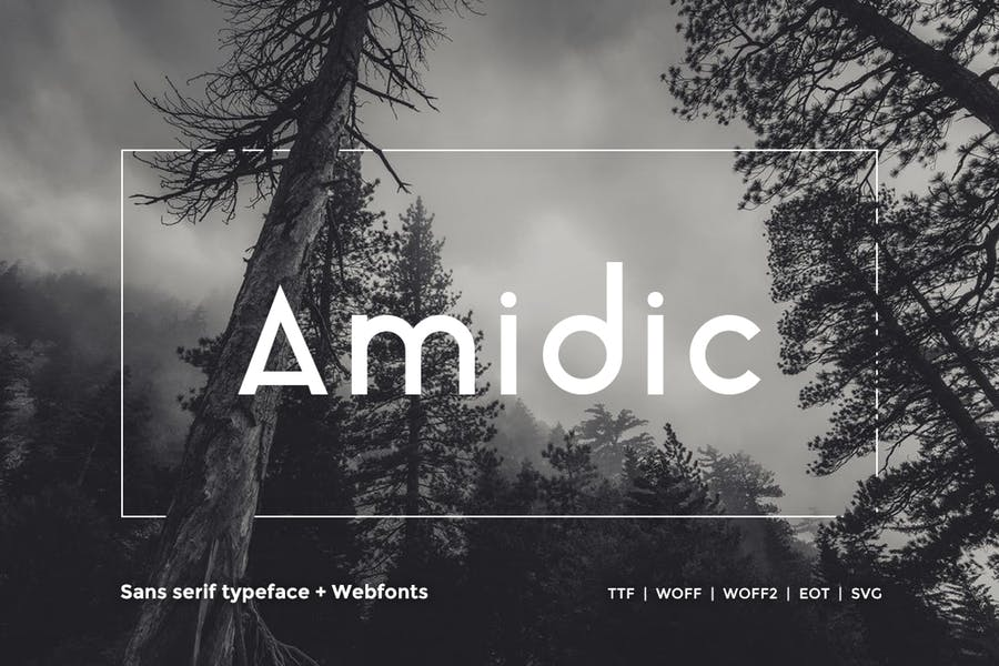 Download Amidic - Modern San-serif Typeface + WebFont