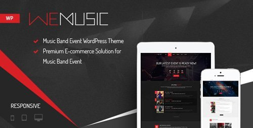 ThemeForest – WeMusic v1.7.6 – Music Band Event WordPress Theme