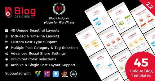 CodeCanyon – Blog Designer PRO for WordPress v2.2