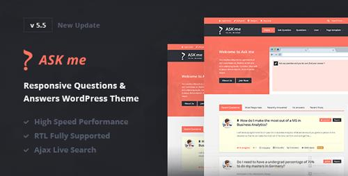 ThemeForest – Ask Me v5.5 – Responsive Questions & Answers WordPress