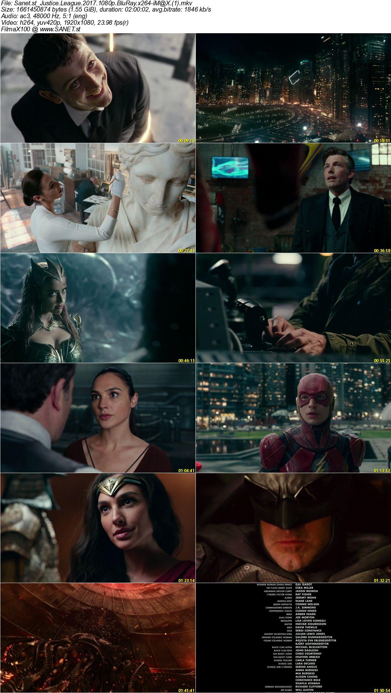 Blu Ray Vs 1080p: Download Justice League 2017 1080p BluRay X264-iM@X