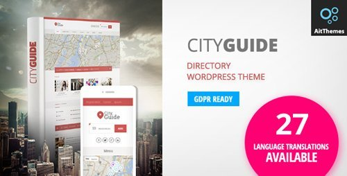ThemeForest – City Guide v3.29 – Listing Directory WordPress Theme