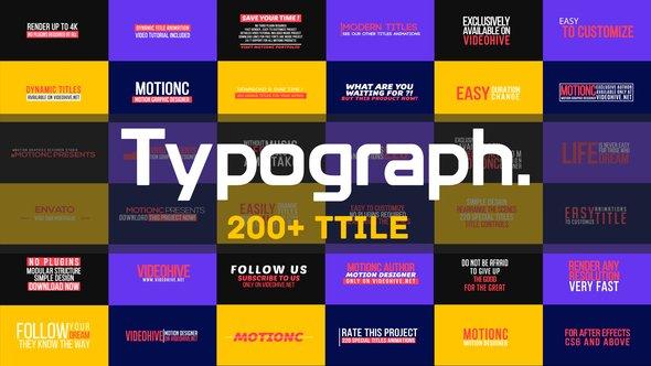 Videohive Typograph 21829693