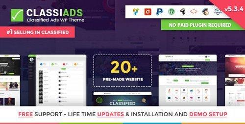 ThemeForest – Classiads v5.3.8 – Classified Ads WordPress Theme