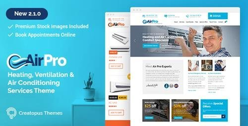 ThemeForest – AirPro v2.1.2 – Heating and Air conditioning WordPress Theme for Maintenance Services