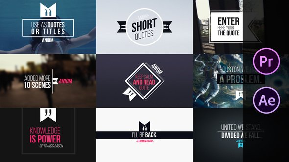 Videohive Short Quotes 21811904