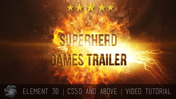 Videohive Superhero Games Trailer - Cinematic Titles 15628573