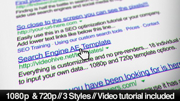 Videohive Internet Search Engine Screen Close-Up 6546852