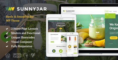 ThemeForest – SunnyJar v1.2 – Smoothie Bar & Healthy Drinks Shop WordPress Theme