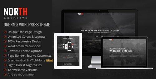 ThemeForest – North v3.99.2 – One Page Parallax WordPress Theme