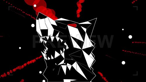 Low Poly Wolf Head VJ Loop 87913