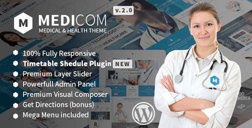 ThemeForest – Medicom v3.0.4 – Medical & Health WordPress Theme