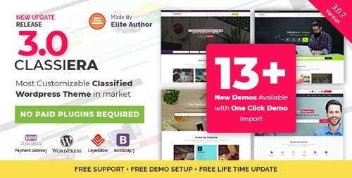 ThemeForest – Classiera v3.0.7 – Classified Ads WordPress Theme