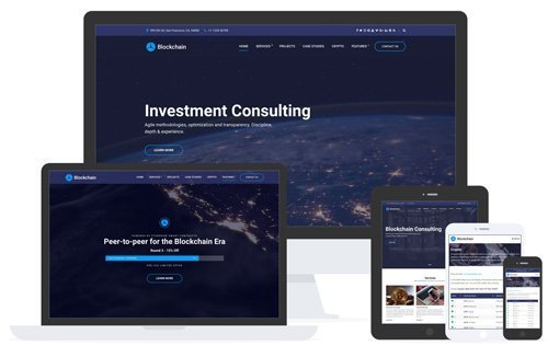 CSSIgniter – Blockchain v1.3.2 – Business / Cryptocurrency / ICO WordPress Theme