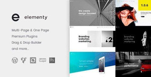 ThemeForest – Elementy v1.0.6 – Multipurpose One & Multi Page WordPress Theme