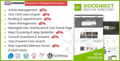 ThemeForest – Directory DocDirect v8.0 – Responsive WordPress Theme for Doctors and Healthcare Directory