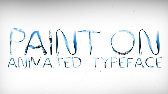 Videohive Paint On Animated Typeface 11884797