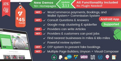 ThemeForest – Listingo v3.1.1 – Service Providers, Business Finder and Directory Listing Booking WordPress Theme