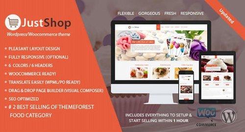 ThemeForest – Cake Bakery WordPress Theme – Justshop v8.1