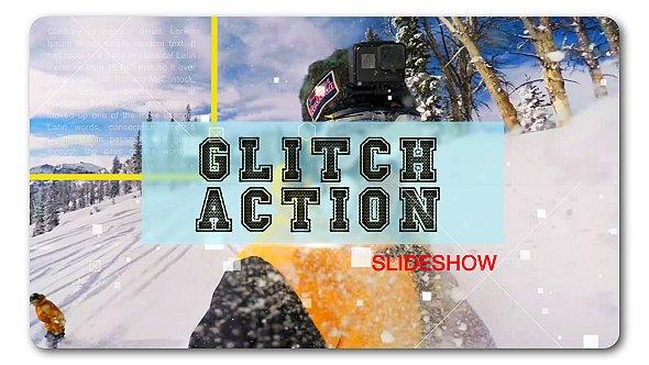 Videohive Glitch Action Slideshow 19330177