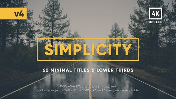 Videohive Simplicity Title Pack v.4 17957957