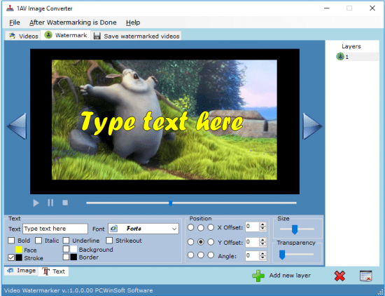 PCWinSoft Video Watermarker 1.0.3.21 Portable