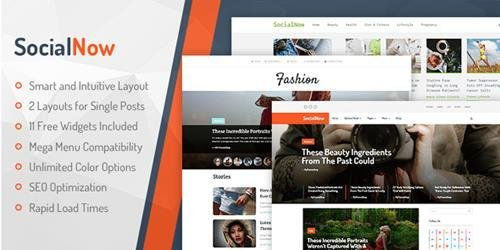 MyThemeShop – SocialNow v1.1.4 – Beautiful & Modern Magazine WordPress Theme