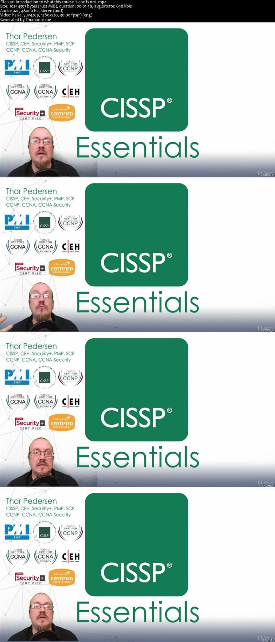 cissp certification introduction study right screenshots