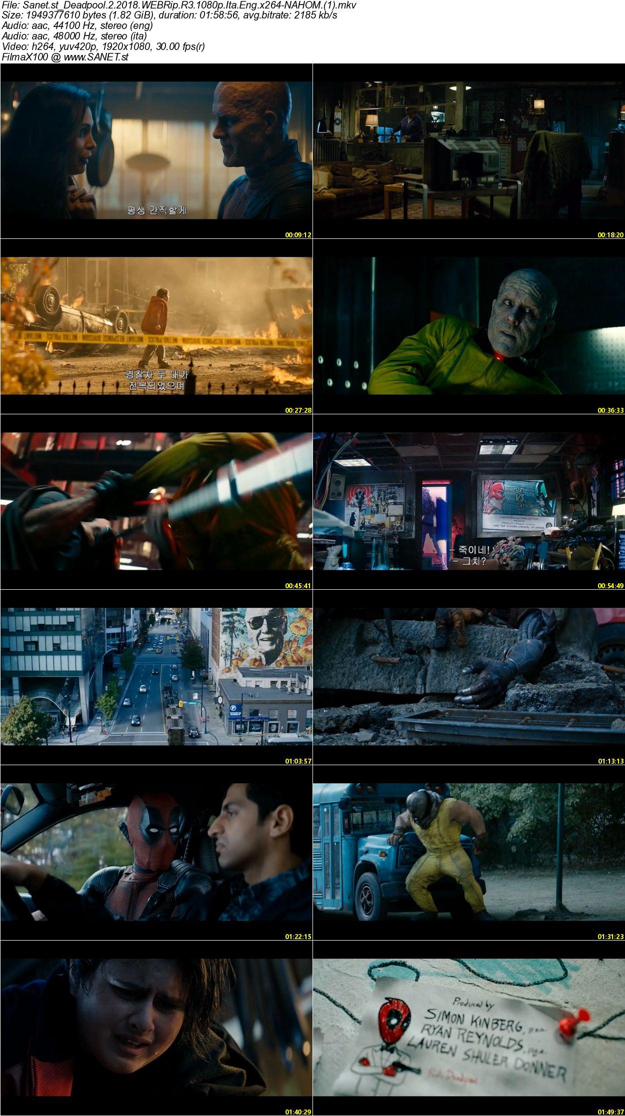 Download deadpool 2 2018 webrip r3 1080p ita eng x264 - Deadpool download 1080p ...
