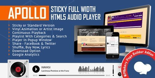Download CodeCanyon - Apollo - Sticky Full Width HTML5 Audio