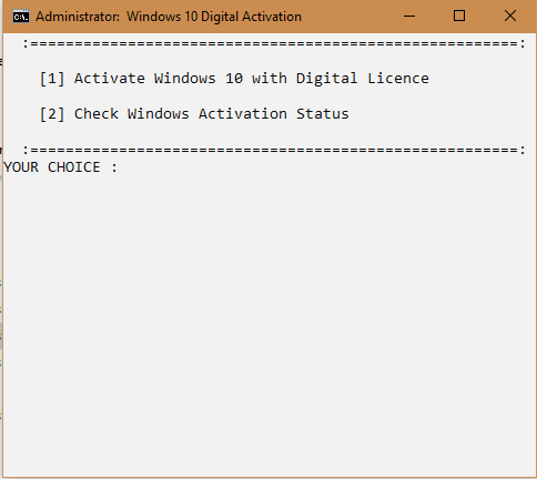 windows activator 10 cmd