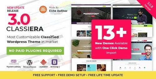 ThemeForest – Classiera v3.0.8 – Classified Ads WordPress Theme