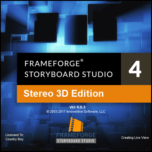 FrameForge Storyboard Studio 4.0.3 Build 11 Stero 3D
