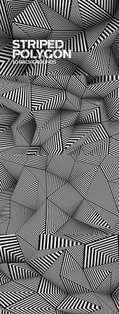 Striped Polygon Backgrounds
