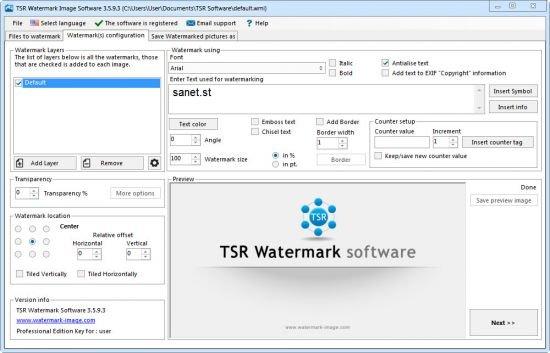 TSR Watermark Image Pro 3.5.9.3 Multilingual