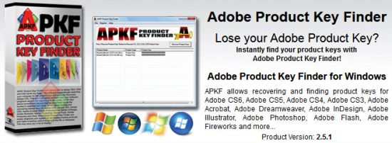 APKF Adobe Product Key Finder 2.5.1.0