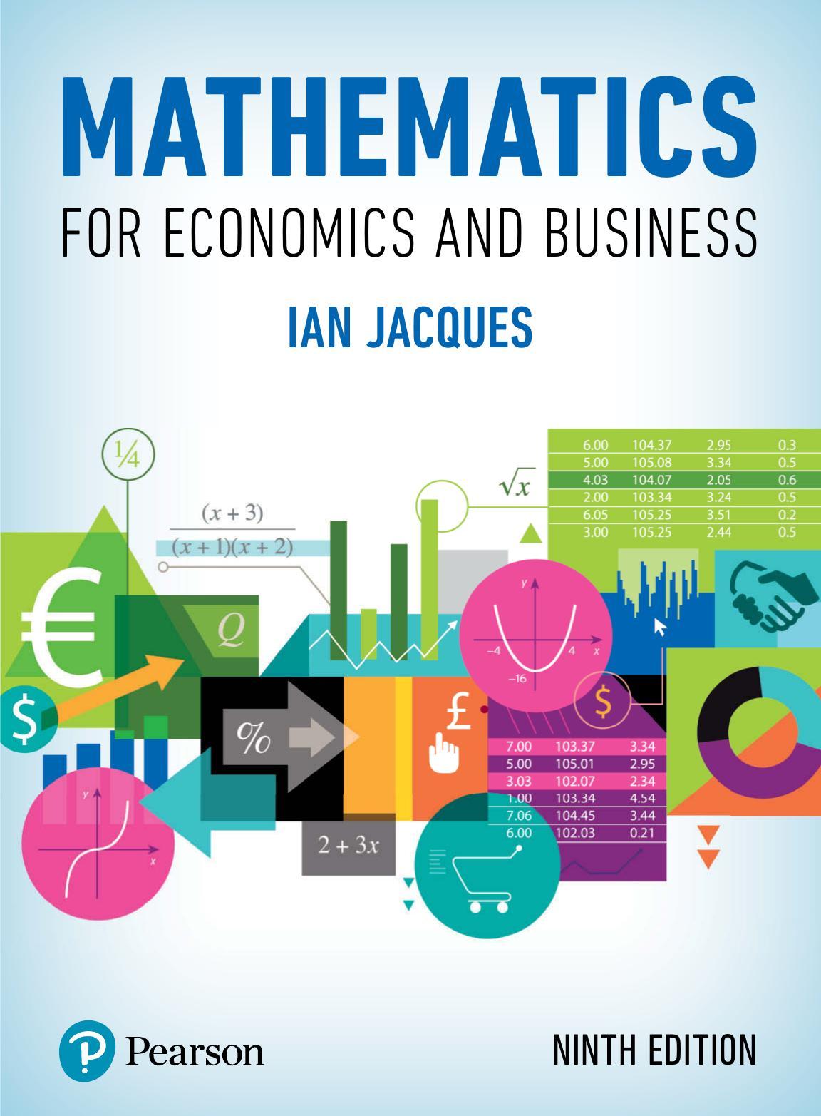Essential mathematics for economics and business 4th edition pdf