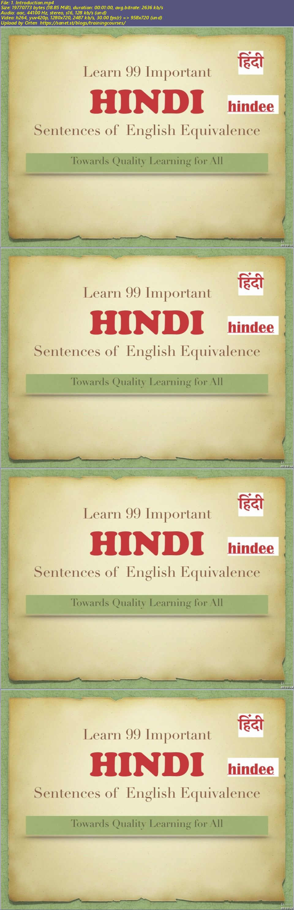 Download Learn 99 Important HINDI Sentences - SoftArchive