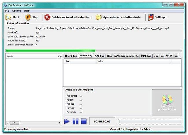 Portable 3delite Duplicate Audio Finder 1.0.21.48