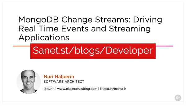 Download MongoDB Change Streams: Driving Real Time Events and