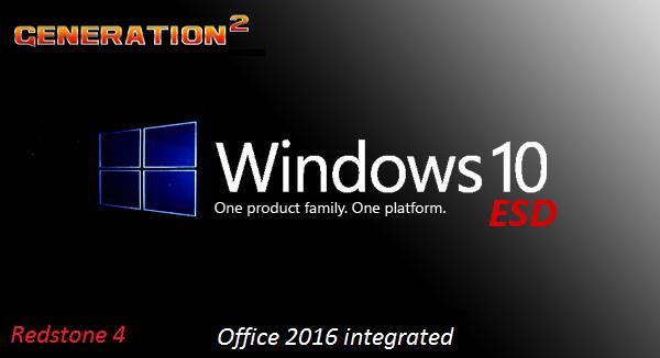 Windows 10 Pro x64 RS4 1803 Build 17134.228 incl Office 2016 ESD en-US August 2018