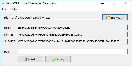 VovSoft File Checksum Calculator 1 1 - Software Updates