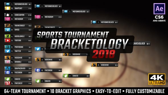 Bracketology - Sports Tournament Bracket - Project for After Effects (Videohive)