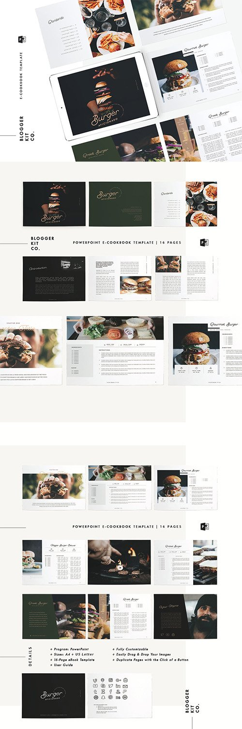 Download Ebook Template Cookbook 16 Pages Powerpoint Softarchive