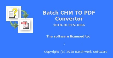 Batch CHM to PDF Converter 2019.11.504.1902
