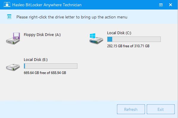 Download Hasleo BitLocker Anywhere 4 6 (x64) Technician